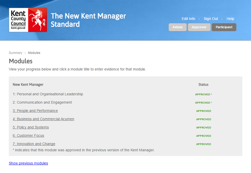 The Kent Manager - Screnshot